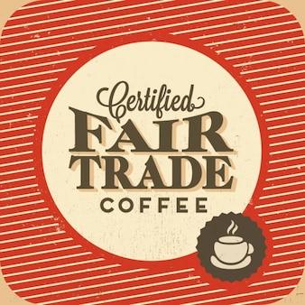 Etiqueta sobre el café de comercio justo