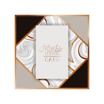 Etiqueta de la tarjeta de textura de mármol aislado icono