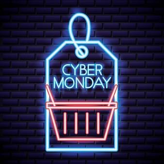 Etiqueta de la tienda de cyber monday