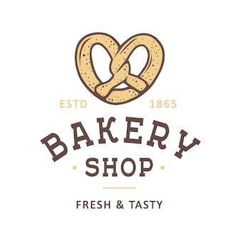 Etiqueta de tienda de panadería de estilo vintage, insignia, logotipo
