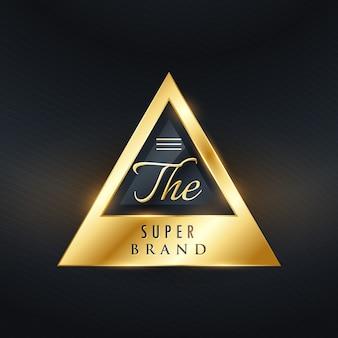 Etiqueta triangular de lujo