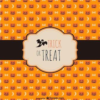 Etiqueta de truco o trato para halloween