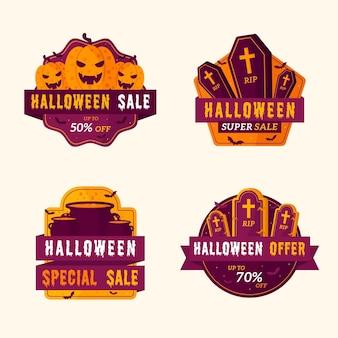 Etiqueta de venta de halloween