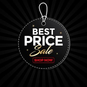 Etiqueta de venta, pancarta, etiqueta redonda, mejor precio, publicidad, ilustración.
