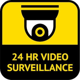 Etiqueta de videovigilancia