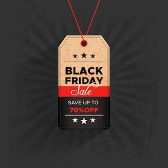 Etiqueta de viernes negro con oferta