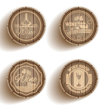 Etiqueta de vino barril
