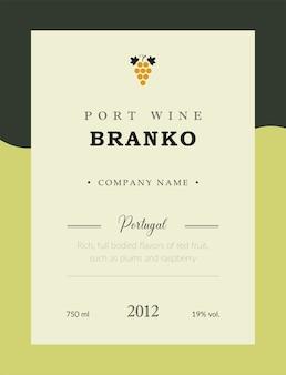 Etiqueta de vino de oport