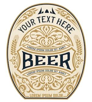 Etiqueta vintage de cerveza artesanal.