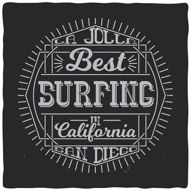 Etiqueta vintage con composición de letras sobre fondo oscuro. diseño de camiseta.
