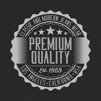 Etiqueta vintage con composición de letras