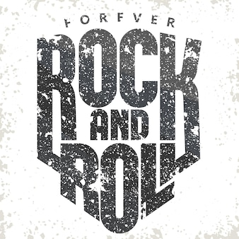 Etiqueta vintage de rock and roll grunge.