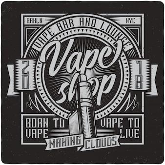 Etiqueta vintage vaping