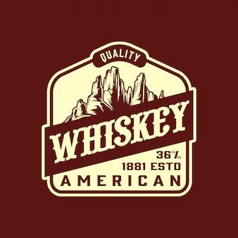 Etiqueta vintage de whisky estilo salvaje oeste