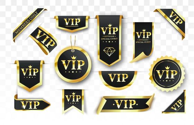 Etiqueta vip, insignia o etiqueta.