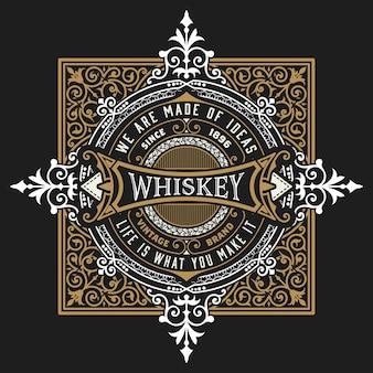Etiqueta de whisky para embalaje