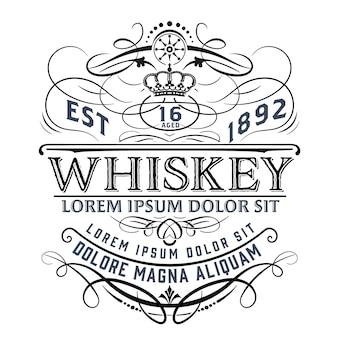 Etiqueta de whisky vintage para embalaje.