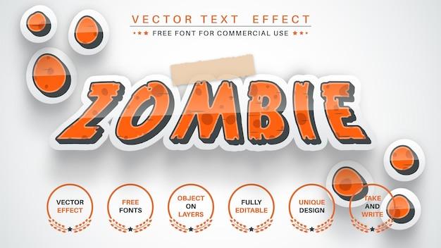 Etiqueta de zombie editar efecto de texto estilo de fuente editable