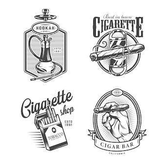 Etiquetas de bar lounge monocromáticas vintage