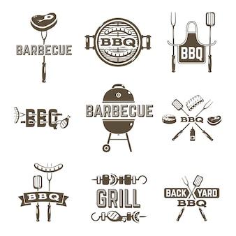 Etiquetas de barbacoa y parrilla