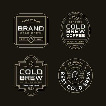Etiquetas de café frío