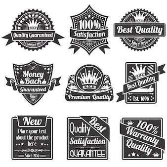 Etiquetas de calidad y garantía