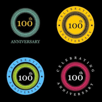Etiquetas de celebración de los 100 años