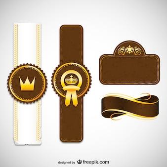 Etiquetas y cintas de realeza