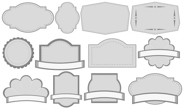 Etiquetas de color gris