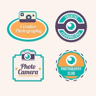 Etiquetas coloridas de fotografía