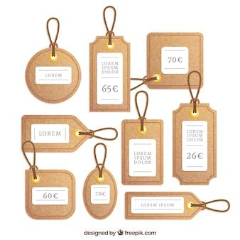 Etiquetas de corcho