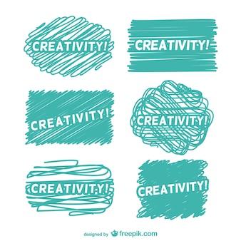 Etiquetas de creatividad turquesa