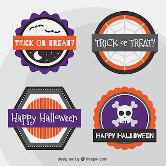 Etiquetas decorativas de halloween en estilo minimalista