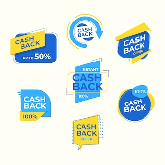 Etiquetas de devolución de dinero con 50% de descuento