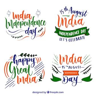 Etiquetas del día de la independencia de la india