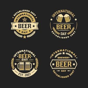 Etiquetas del día internacional de la cerveza