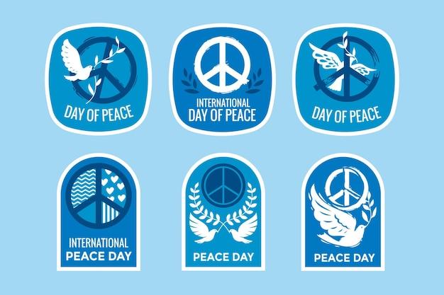 Etiquetas del día internacional de la paz