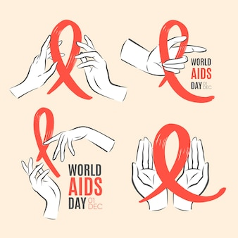 Etiquetas del día mundial del sida
