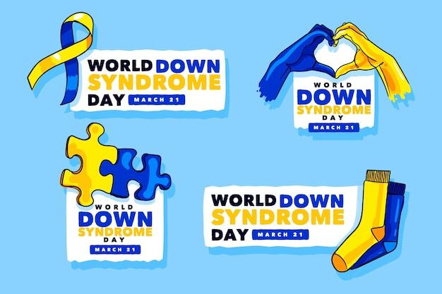 Etiquetas del día mundial del síndrome de down