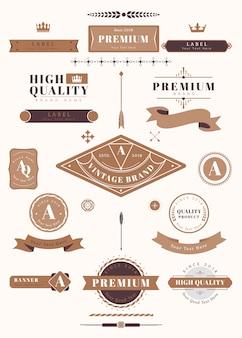 Etiquetas y distintivos vintage.