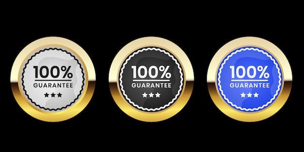Etiquetas doradas e insignias