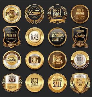 Etiquetas doradas de lujo