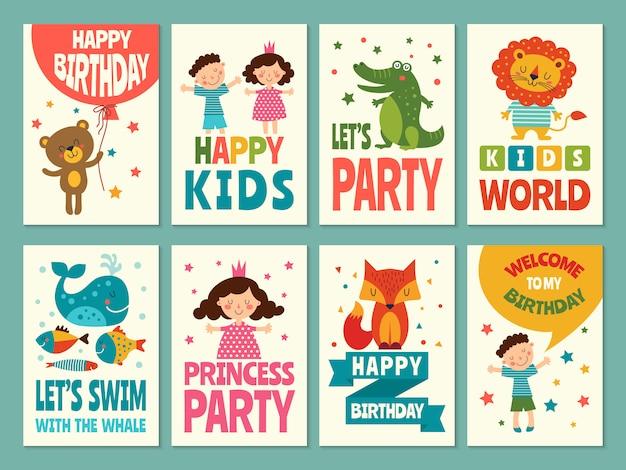 Etiquetas para el embalaje de tarjetas para niños.