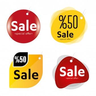 Etiquetas de etiquetas de ventas coloridas