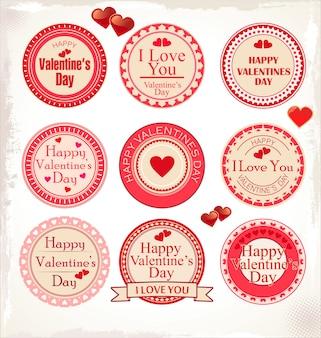 Etiquetas de feliz día de san valentín