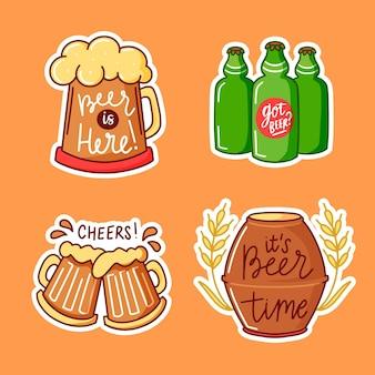 Etiquetas de letras del día internacional de la cerveza