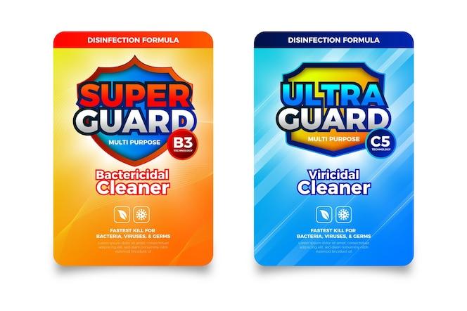 Etiquetas limpiadoras viricidas y bactericidas