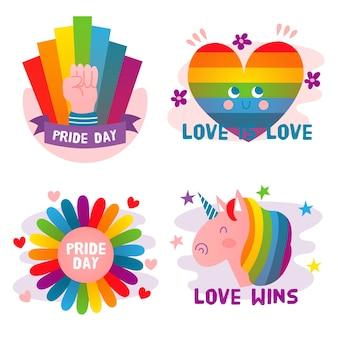 Etiquetas lindas del día del orgullo