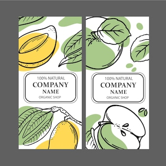 Etiquetas de mango mango