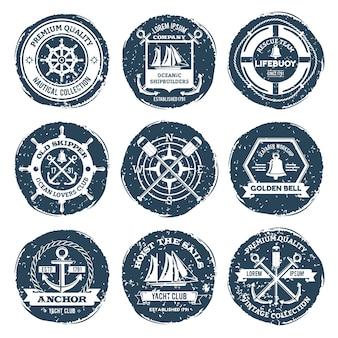 Etiquetas náuticas y sellos